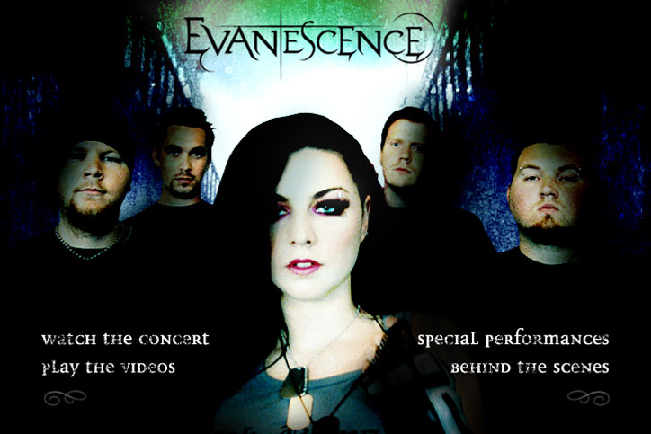 Evanescence DVD Menu