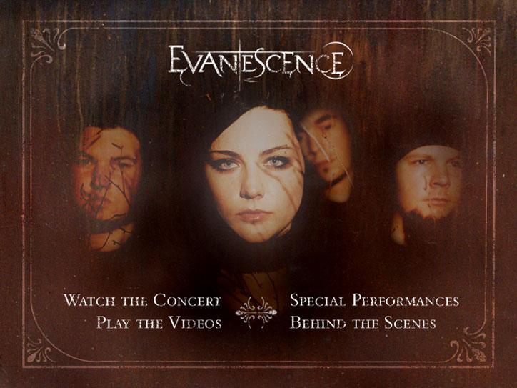 Evanescence DVD Menu