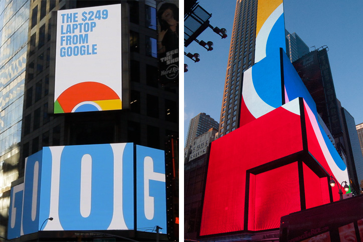 Google Chromebook Times Square