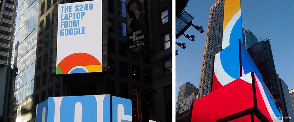 Google Chromebook Times Square