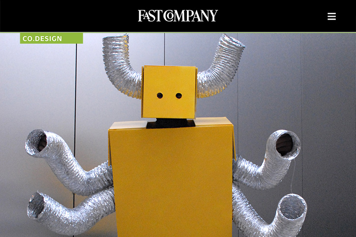 Fast Company features my Halloween costumes