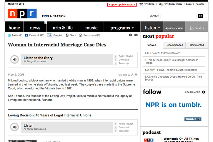 Loving Day founder Ken Tanabe interviewed on NPR All Things Considered