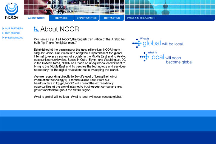 Noor Corporate Website Content