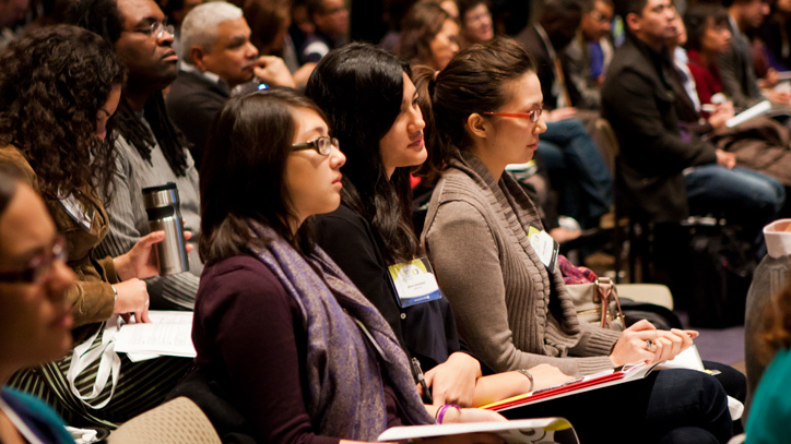 Attendees at the Critical Mixed Race Studies Conference at DePaul University