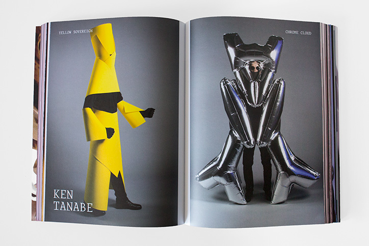 My costumes in a fashion design book with Alexander McQueen and Jean Paul Gaultier