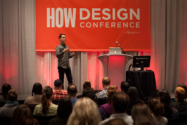 Ken Tanabe speaking at the HOW Design Conference