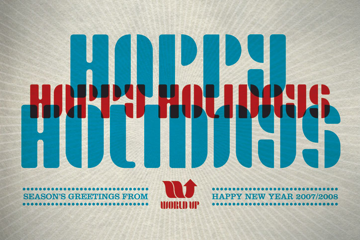 World Up Holiday Card